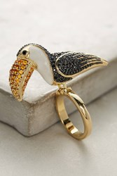 Anthropologie Parrot Cocktail Ring Gold
