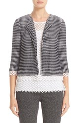 St. John Women's Collection Textured Grid Jacket