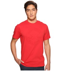 Converse Embossed Chuck Patch Tee Casino Red Men's T Shirt Pink