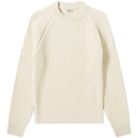 Saint Laurent Raglan Rib Crew Knit White