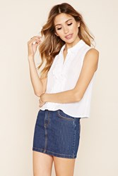 Forever 21 Ruffled Button Front Top