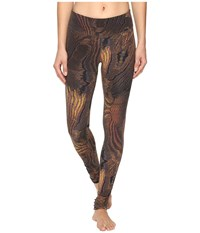 New Balance Premium Performance Tight Print Pants Digital Moire Women's Casual Pants Brown