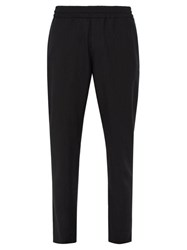 Acne Studios Ryder Elasticated Waist Wool Blend Trousers Black