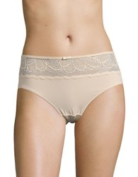 Bali Lace Topped Hipster Panties White