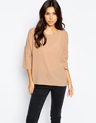 Vero Moda 3 4 Sleeve Tunic Top Pink