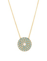 Lord And Taylor Sterling Silver Evil Eye Pendant Necklace Turquoise