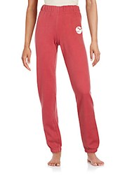 K Way Solid Elasticized Pants Raspberry