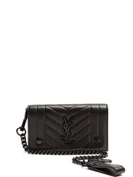 Saint Laurent Monogram Quilted Leather Wallet Black