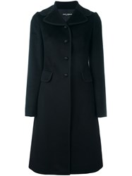 Dolce And Gabbana Single Breasted Coat Black