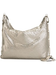 Laura B Metal Mesh Shoulder Bag Metallic