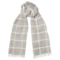 Whistles Check Weave Blanket Scarf Pale Grey