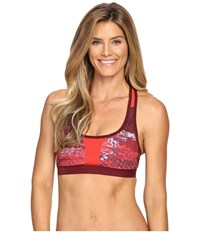 The North Face Stow N Go Iv Bra Biking Red Reptile Print Prior Season Pink