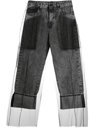 Diesel Black Gold Layered Tulle Jeans Grey