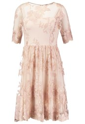 Adrianna Papell Cocktail Dress Party Dress Blush Gold Rose