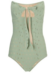 Lilliput And Felix Mint Structured Bandeau Iris Swimsuit Green
