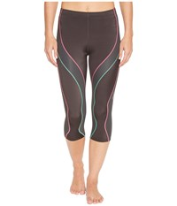 Cw X 3 4 Performx Tight Grey Pink Turquoise Workout Brown