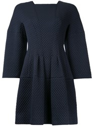 Bianca Spender Quilted And Ponte Celestial Dress Blue