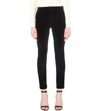 Maje Giverny High Rise Velvet Jeans Nuit
