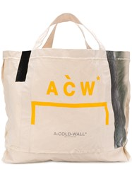 A Cold Wall Logo Print Oversized Tote Nude And Neutrals