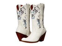 Dan Post Flower Girl White Women's Pull On Boots