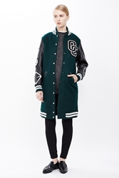 Opening Ceremony Oc Exclusive Varsity Long Jacket Marble Green Multi