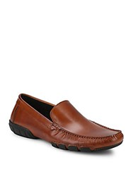 Kenneth Cole Reaction Tuff Guy Leather Loafers Cognac