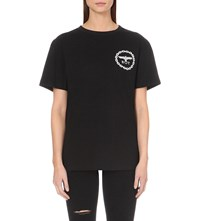 Boy London Chain Print Cotton Jersey T Shirt Black Silver