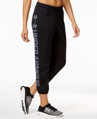 Under Armour Favorite Fleece Capri Pants Black