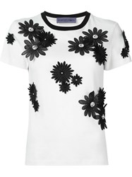 Emanuel Ungaro Flower Appliqua T Shirt Nude And Neutrals