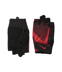 Nike Core Lock Training Gloves 2.0 Black University Red Athletic Sports Equipment