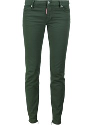 Dsquared2 'Medium Waist Twiggy' Jeans Green