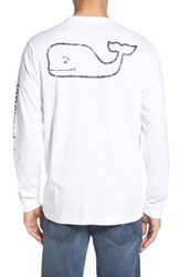 Men's Vineyard Vines Pocket Long Sleeve T Shirt White Cap
