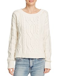 360 Sweater Spencer Chunky Cable Knit Chalk