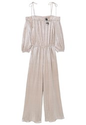 Mango Long Metallic Jumpsuit Metallic