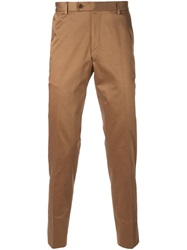 Sand Slim Fit Tailored Trousers Brown