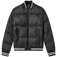 Marcelo Burlon Tonal Allover Cross Down Jacket Black