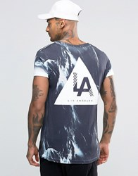 New Look T Shirt With La Marble Print In Black Black
