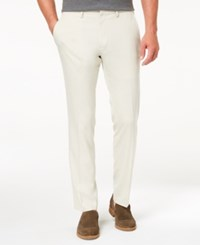 Kenneth Cole Reaction Men's Slim Fit Stretch Dress Pants Created For Macy's Natural