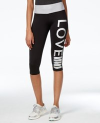Material Girl Active Juniors' Cropped Graphic Leggings Only At Macy's Heather Gray