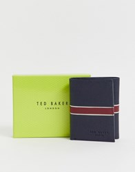 Ted Baker Strive Rfid Tri Fold Card Holder In Navy