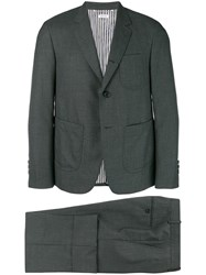 Thom Browne Super 120S Patch Pocket Sack Suit Grey