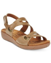 Bare Traps Jevin Strappy Flatform Sandals Women's Shoes Auburn