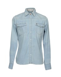 Maison Clochard Denim Shirts Blue