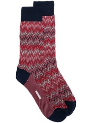 Missoni Zig Zag Knit Socks Red