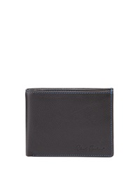 Robert Graham Woodley Leather Slim Bi Fold Wallet Black