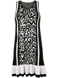 Just Cavalli Leopard Print Mini Dress Black