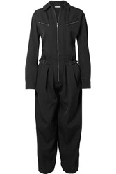 Givenchy Grain De Poudre Wool Jumpsuit Black