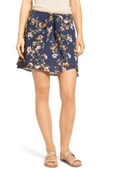 Mimi Chica Women's Floral Tie Front Skirt