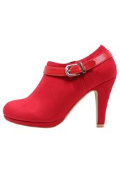 Anna Field High Heeled Ankle Boots Red