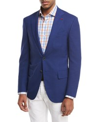 Isaia Sanita Super 170S Wool Two Button Sport Jacket Blue